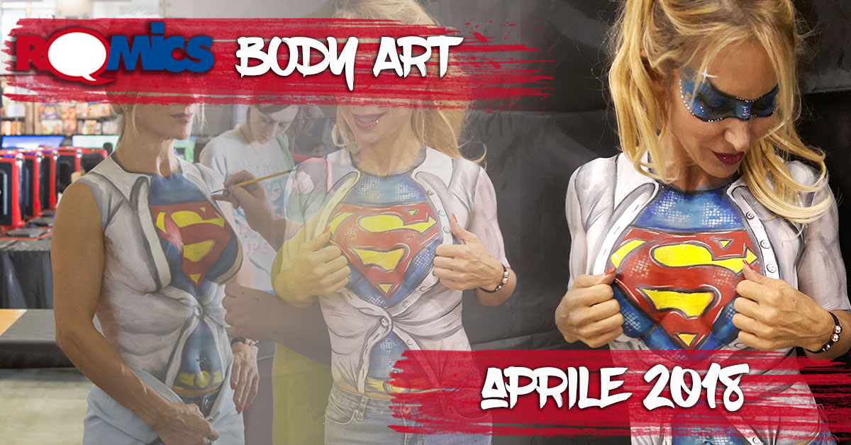 Body Painting Show >> Romics Body Art The Body Painting Show At The Spring Edition Of
